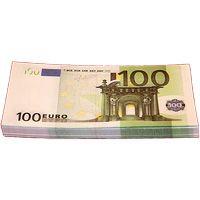 Пачка денег - 100 евро сувенирная