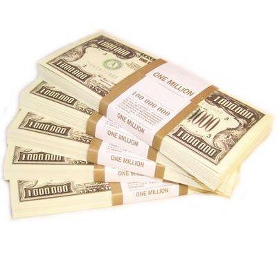 Пачка денег - 1 000 000 долларов сувенирная