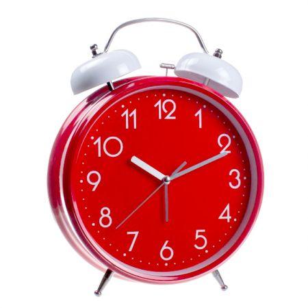 """Часы - будильник """"гигант"""" красный большой 30см"""