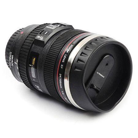 Термокружка Объектив фотоаппарата 24-105 mm крышка-дозатор