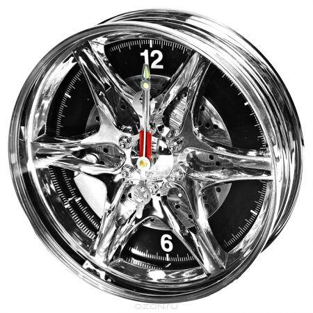 """Часы колесо """"Автодиск"""" настенные"""