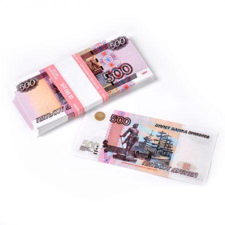 Пачка денег - 500 рублей сувенирная