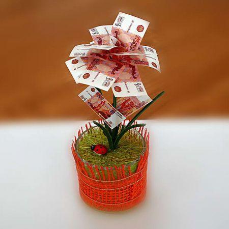 Денежное дерево 5000 рублей маленькое