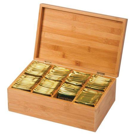 Коробка для чайных пакетиков бамбук