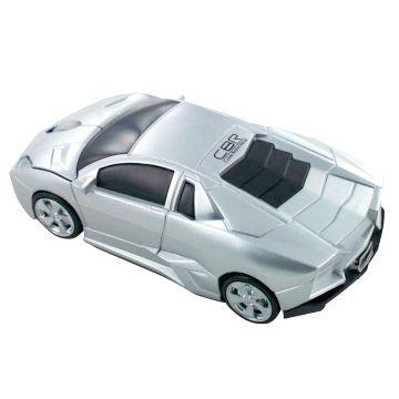 Мышь машинка «Lamborghini» беспроводная сувенирная серебро