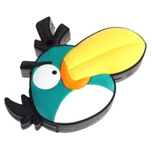 """Флешка """"Angry birds"""" 8 Гб зеленая птица плоская"""