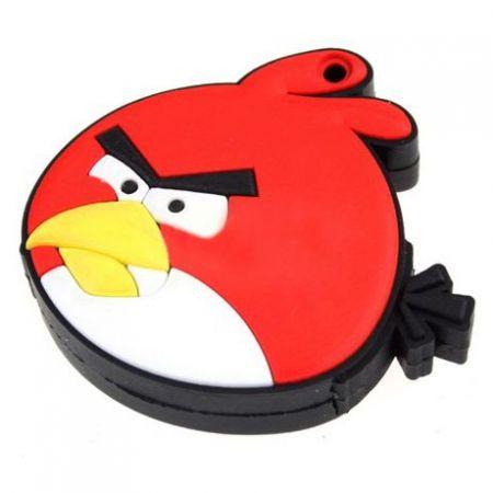 """Флешка """"Angry birds"""" 8 Гб красная птица плоская"""