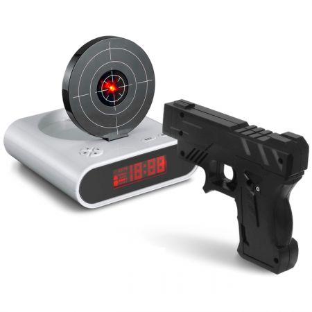 Будильник Мишень с лазерным пистолетом с USB