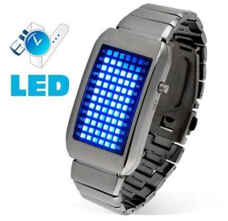 Led watch -  Часы браслет Intercrew 72 синих светодиода