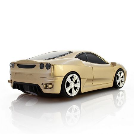 Мышь - машинка беспроводная «Ferrari» золотая