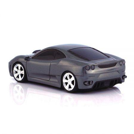 Мышь - машинка беспроводная «Ferrari» cерая