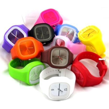 Часы Jelly watch наручные на силиконовом ремешке