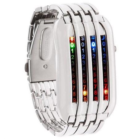 Led Watch - часы Матрица 4 линии наручные