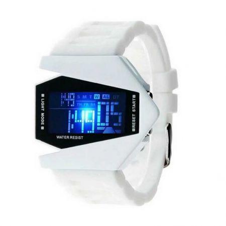 """Led Watch - часы Skmei """"Истребитель"""" наручные белые"""
