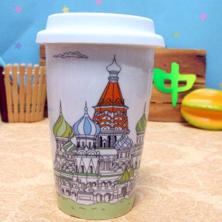 Эко кружка - керамический стаканчик Moscow