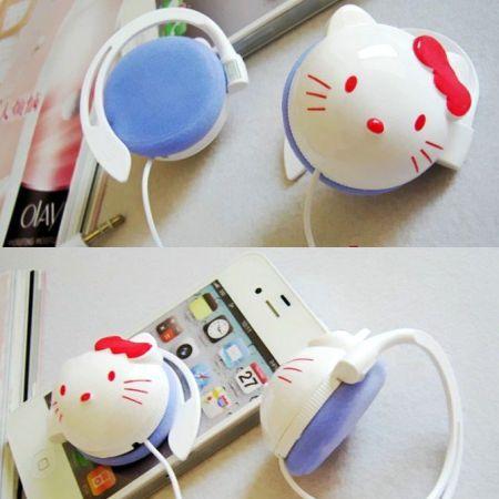 Наушники Hello Kitty большие круглые
