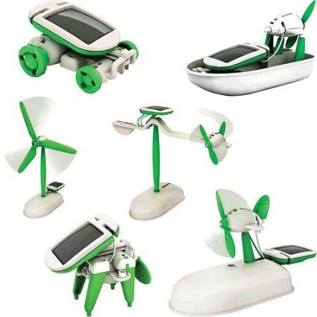 Конструктор-трансформер Solar Robot kit 6в1 на солнечной батарее