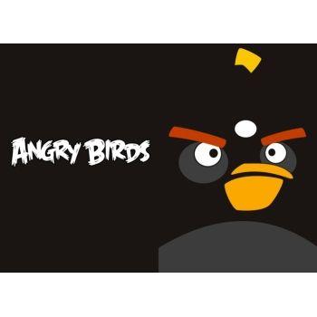 """Обложка для паспорта """"Angry Birds"""" черная птица"""