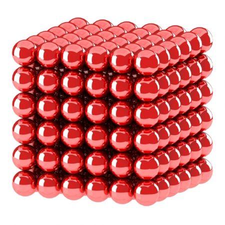 Головоломка Нео куб 5мм 216 сфер красный