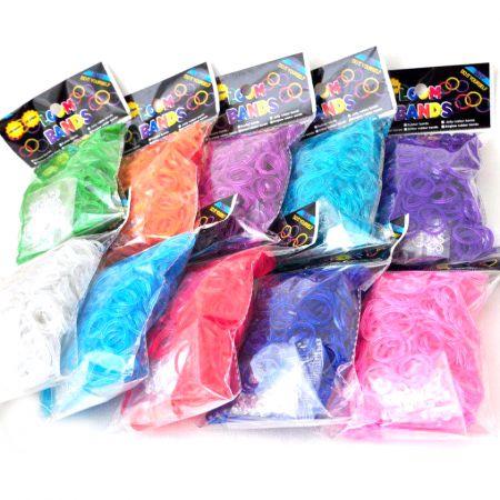 Набор резинок для плетения браслетов Loom Bands 200 розовый