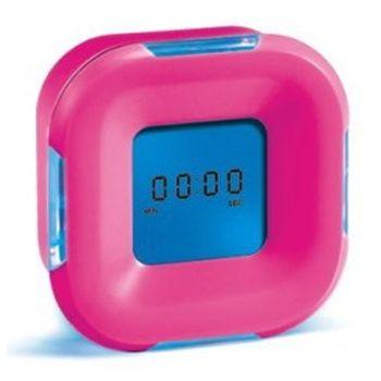 """Часы настольные """"Как ни крути"""" с подсветкой розовые"""
