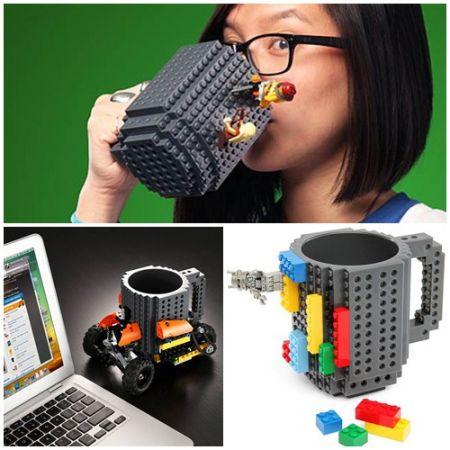 """Кружка """"Lego"""" в комплекте с конструктором лего"""