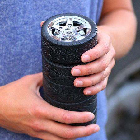 "Термо-кружка ""Шиномонтаж 5 шин"" в виде колеса Tyre cup"
