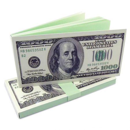 Блокнот для записей 1000 долларов