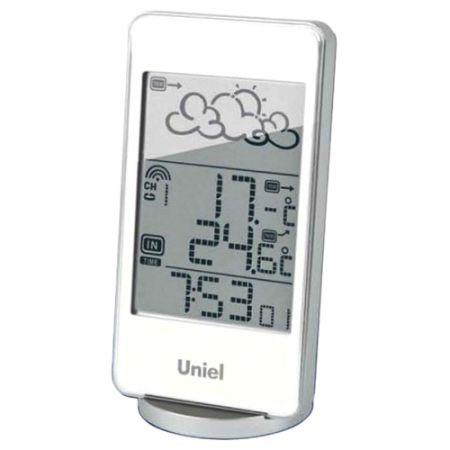 Метеостанция Uniel  UTV-82 белая с беспроводным датчиком и анимированным прогнозом погоды