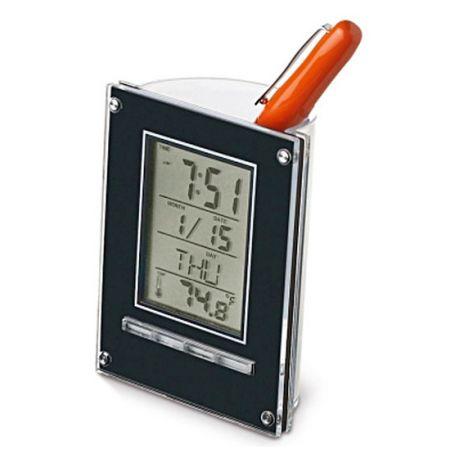 """Часы-будильник """"Подставка для ручек с метеостанцией"""""""