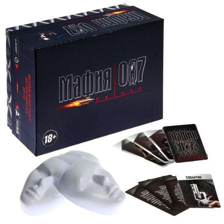 """Настольная игра """"Мафия 007 Delux"""" с масками"""