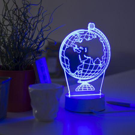 """3D светильник """"Глобус"""" 25 см"""