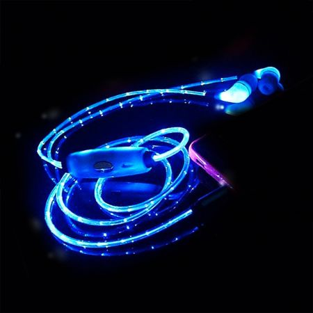 Наушники-вкладыши со светящимся LED проводом Human Friends, Spark  Blue