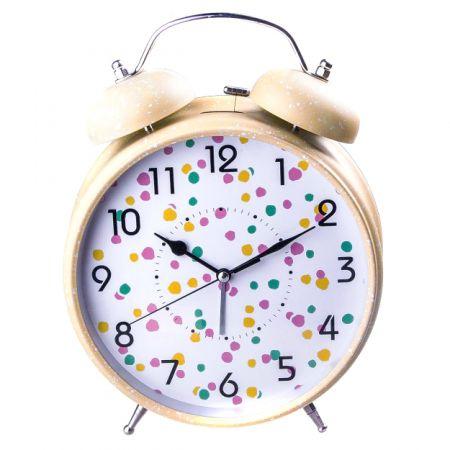 """Часы - будильник """"гигант"""" желтый большой 30см"""