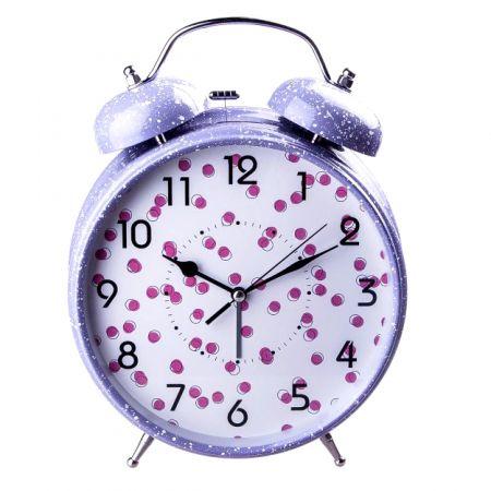 """Часы - будильник """"гигант"""" сиреневый большой 30 см"""