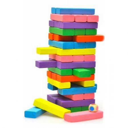 Настольная игра Башня 48 цветных блоков