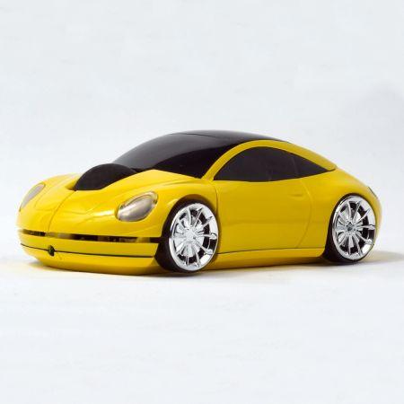 """Мышь """"Porsche 911"""" оптическая желтая машина USB"""