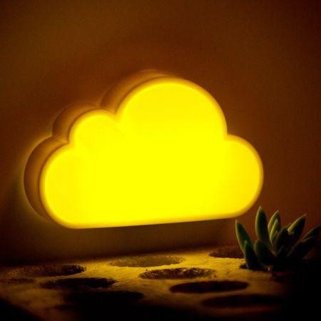 """Ночник в розетку """"Облачко"""" желтый с белым"""