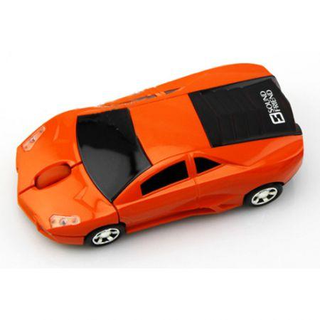Мышь машинка «Lamborghini» беспроводная сувенирная оранжевая