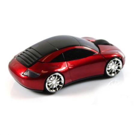 Мышь беспроводная «Porshe 911» оптическая красная машина в виде автомобиля