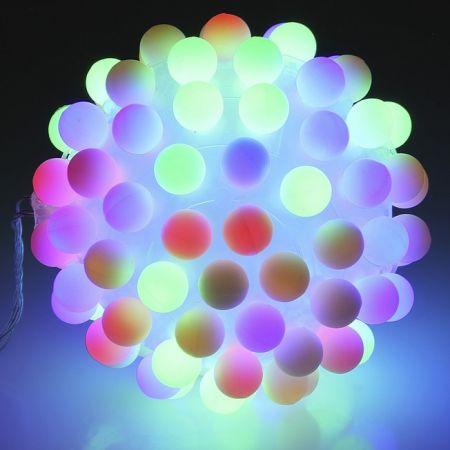 Светильник разноцветный светодиодный шар Led