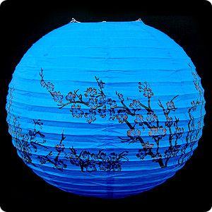 """Фонарь подвесной """"Сакура"""", синий"""