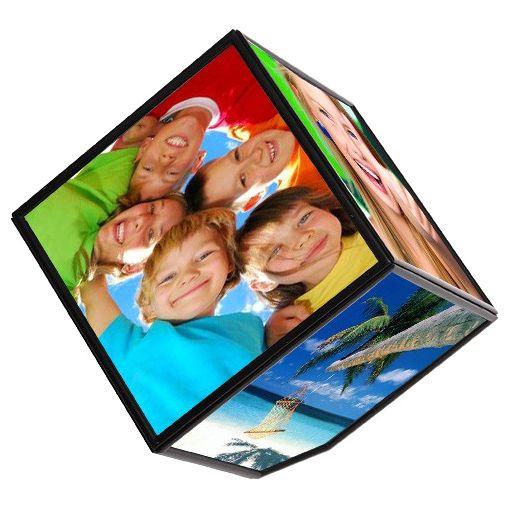 3D фоторамка «Вращающийся куб»