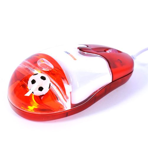 """Мышь """"Аквариум"""" с футбольным мячом внутри"""