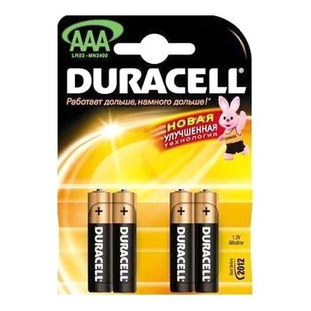 Батарейка Duracell 1.5V AAA (Пальчиковая маленькая)
