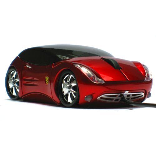 Мышь - машинка «Ferrari» оптическая красная USB