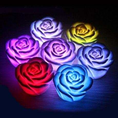 Led светильник - ночник Роза мини