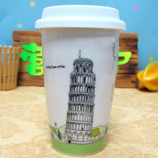 Эко кружка - керамический стаканчик Tower of Pisa
