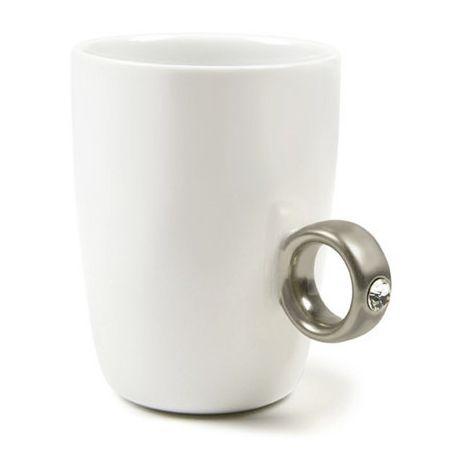 """Кружка """"Предложение"""" серебряное кольцо"""