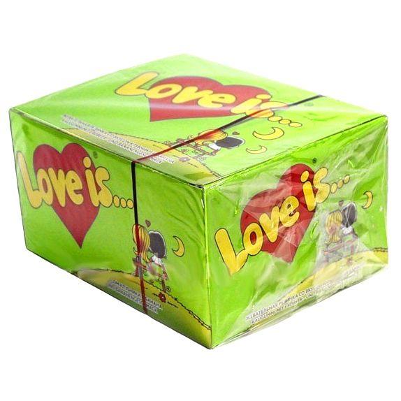 Жвачка Love is... Блок Яблоко-Лимон 100 шт